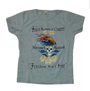Freedom isnt Free helmet roast shirt Large Men